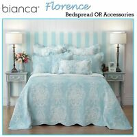 Florence Blue Bedspread / Coverlet + P/case(s) OR Accessories by Bianca 5 Sizes