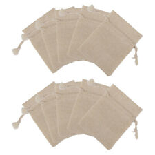 80pcs Burlap Natural Linen Jute Sack Jewelry Pouch Drawstring Gift Bags