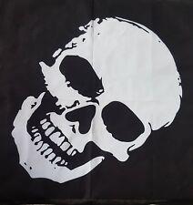 BANDANNA - Full Skull - Black and White - 100% Cotton - Bargain Price - New!