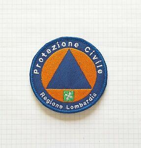 PROTEZIONE CIVILE REGIONE LOMBARDIA -  diametro cm 8 toppa patch con Strappo