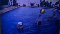 Vintage Photo Slide 1961 Beachball Playing In Pool