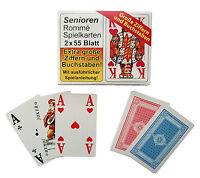 8 x 55 Karten Senioren Rommé mit großen Zahlen, Kartenspiel, Spielkarten, NEU