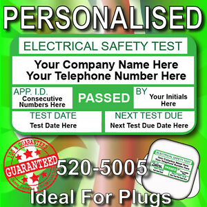Personalised PASSED PAT Test Labels / Stickers Ideal For Plugs GREAT VALUE