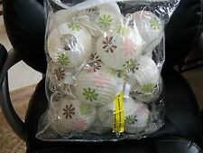 Set of 2 Larger Size Floral Print Latern Lights EUC