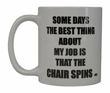 Best Funny Coffee Mug Cup Office Gift Boss Coworker Party Employee Chair Spins