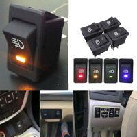 LED On/Off Indicator Rocker Toggle Switch Driving Fog Lamp/Work Light Bar 12V