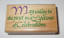 May Today Be the First in a Lifetime of Celebrations Rubber Stamp Wedding Wishes