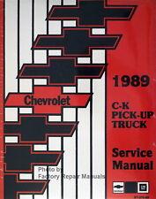 1989 Chevy Pickup Truck Factory Shop Service Manual C K 1500 2500 3500 Reprint