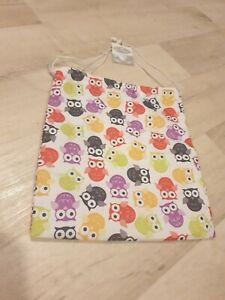 Dolshe Drawstring Shower Bag Owl Print New