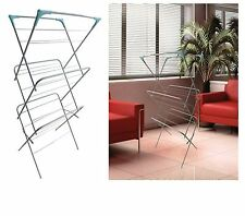 3 Tier Concertina Horse Wash Clothes Airer Hanger Laundry Dryer Indoor Outdoor
