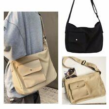 Women Men Messenger Bag Canvas Travel Crossbody Shoulder Bag Satchel Zipper
