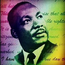 Martin Luther King canvas print wall  hanging, Size50x60 cm uv protected
