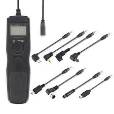 Timer Remote Shutter Cord for Canon Nikon Sony Olympus with 8pcs Removable Cable