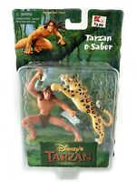 Tarzan & Sabor Vintage Disney Tarzan Movie Figure Set New 1999 Mattel 90s