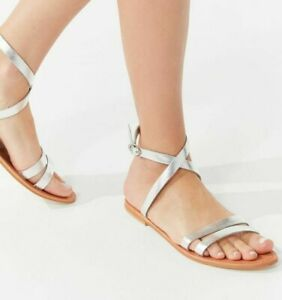 NWT Urban Outfitters stunning Cleo leather sandal silver Sz. 7 and Sz. 8