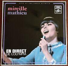 """MIREILLE MATHIEU,EN DIRECT DE L'OLYMPIA ALBUM,VINTAGE 12"""" LP 33,GREAT CONDITION"""