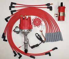 Small Cap BUICK BIG BLOCK 400 430 455 RED HEI Distributor + RED 45K Coil + Wires