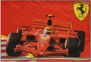 Flag Formula One 1 Ferrari F1 Team NEW! Prancing Horse Shield & Car 100cm x 70cm