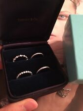 TIFFANY & CO. Platinum Diamond Eternity Rings NOVO, JAZZ Band $15,125 w/ receipt