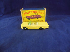 Matchbox Series Lesney No 39 Pontiac Bonneville Convertible in Primrose Yellow