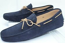New Tod's Men's DriversLaccetto my Colors Blue Shoes Size 10 Loafers