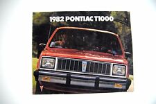 Pontiac T1000 Pick-up 1982 8 page factory sales brochure