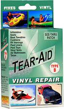TEAR AID TYPE B -FREE POST- VINYL,CAR SEAT, POOL, AIR MATTRESS, LINER REPAIR KIT