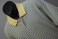 31639 Mens Brooks Brothers 346 Original Striped Short Sleeve Golf Polo Sz Large