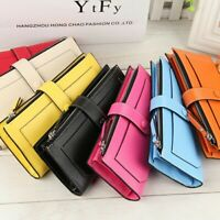 New Women's Long Leather Clutch Wallet Card Holder Cases Purse Handbags Bag US