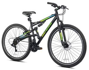 """Men's 29"""" Abstract Mountain Pro Bike Off Road Tires 21-Speed Bicycle, Black"""