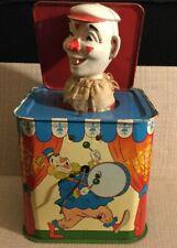 VINTAGE OHIO ART TIN LITHO JACK IN THE BOX