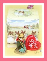 ❤️Wee Forest Folk Ho Joe M-238 1998 Red Shirt Green Cabbage Gardener Mouse❤️