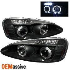 Fits 2004-2008 Pontiac Grand Prix Black Halo Projector LED Headlights