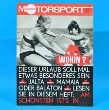 DDR Illustrierter Motorsport IMS 4/1967 Trabant NSU 1000 TTS Skoda 1000 MBX B