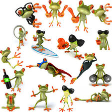5x Large 3d Funny Frog Car Window Windshield Vinyl Decal Graphic Stickers Giftjr