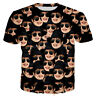 Women Men Michael Jackson Many Faces Funny 3D Print Casual T-Shirt Short Sleeve