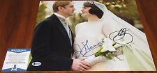 Dan Stevens & Michelle Dockery Signed 11x14 Downton Abbey Lady Mary BAS Beckett