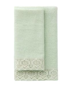 Pair Face Towel + Guest LINEA ORO - Lola - BB0016- Sponge 100% Cotton