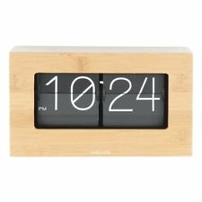 Karlsson Flip Clock Boxed in Bamboo
