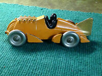 1930's? hubley 6 3/4 in boat tail cast iron race car no. 1877
