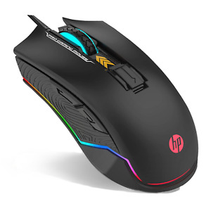 HP Wired Mouse Gaming RGB Backlit LED Gamer USB Wired Mice for Gaming G360