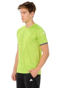 Mens Adidas Training T-Shirt, Top - Fitness Gym Football Soccer Gym - Yellow