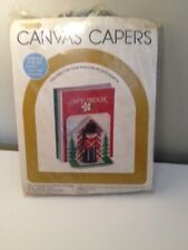 Leisure Arts CANVAS CAPERS Plastic Canvas Kit Toy Soldier Bookend Covers NEW