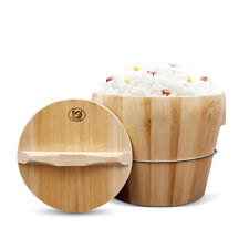 Rice Cooker Steamer Authentic Wood Steaming Good Rice Smell New 8.3 inch