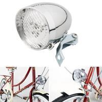 3 LED Retro Front Tail Lamp Bicycle Bike Chrome Visor Bullet Headlamp Headlight☆