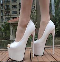 Women's Stilettos Peep Toe Platform Super High Heels Shoes Nightclub Party Pumps