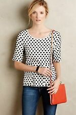 Anthropologie Dottie Pullover Sweater Polka Dots Black Motif Size SP
