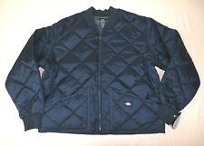 Dickies Men's Diamond Quilted Nylon Jacket Navy TW4 Size 2XL NWT