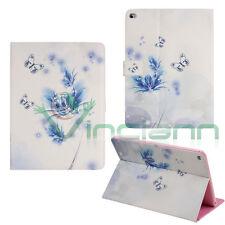 Custodia FIORI e FARFALLE BLU per iPad Air 2 BOOK STAND cover brillantini