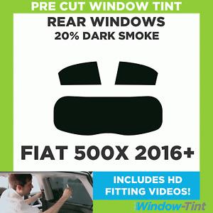 Pre Cut Window Tint - Fiat 500X 2016 20% Dark Rear